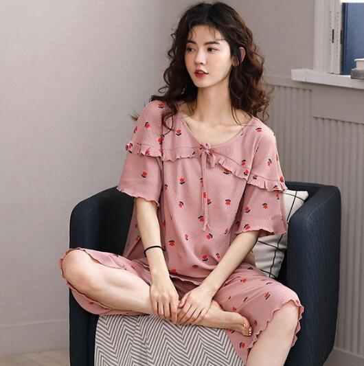 部屋着 半袖 パジャマ  Tシャツ ショートパンツ ...