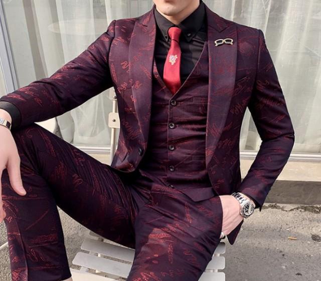 red スーツ 就活 アウター メンズファッション ホ...