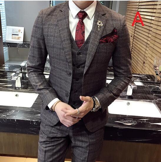 オシャレ 3ピーススーツ メンズ ビジネススーツ ダブルスーツ 2つボタン イギリス風 紳士 スリムスーツ 結婚式 二次会 2色|au  Wowma!(ワウマ)