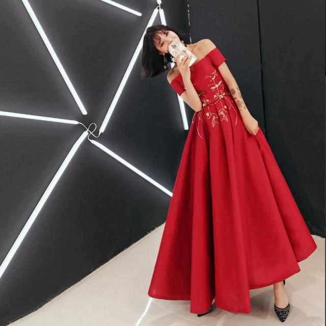 カラードレス 二次会ドレス イブニングドレス パ...