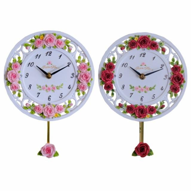 振り子時計 掛け時計 ローズレリーフ 振り子 時計...