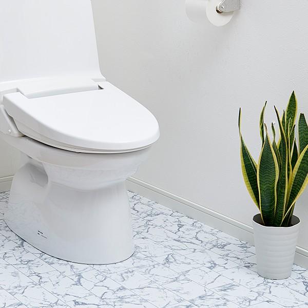 トイレ床模様替えシート 新柄:大理石タイル柄 床...