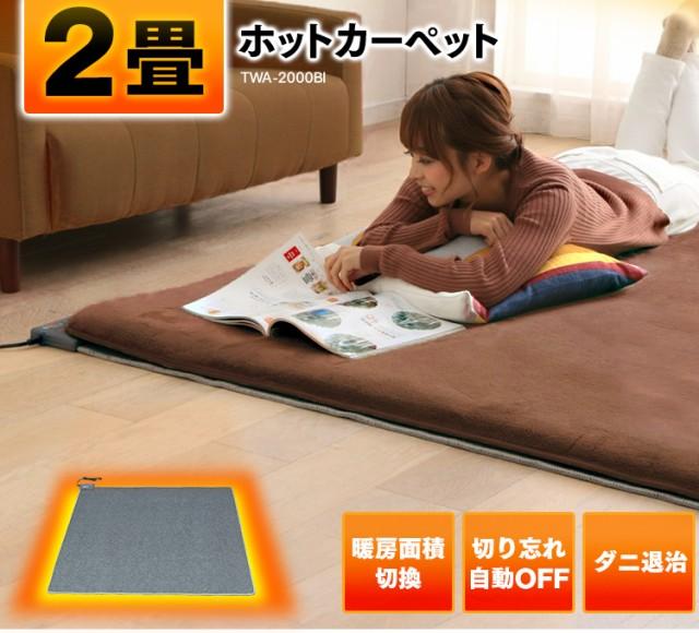 ホットカーペット 2畳 本体 HC-IR200 送料無料 TEKNOS 電気カーペット 2畳用 ホットマット ミニマット 電気マット 176×176cm 正方形 二