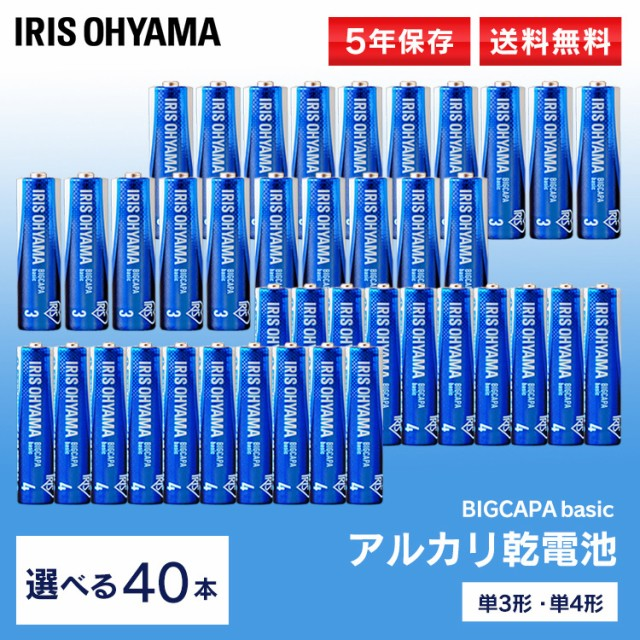 乾電池 単3×20本+単4×20本 アルカリ乾電池 BIG...