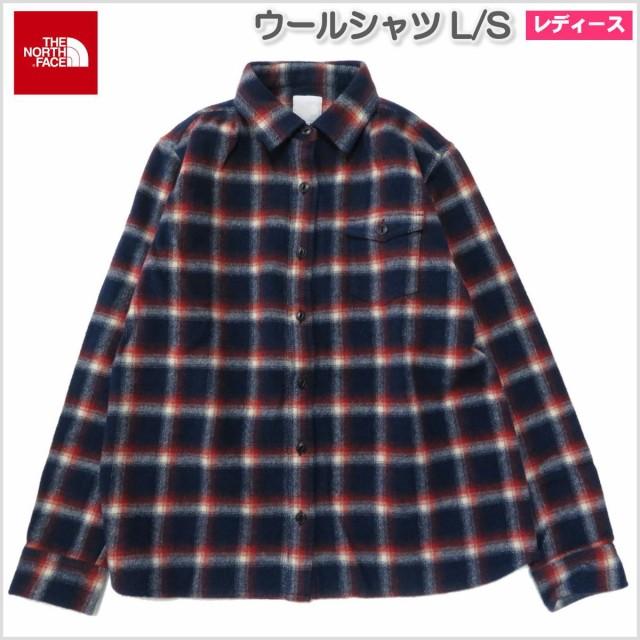 送料無料 ザノースフェイス / ウールシャツ レデ...
