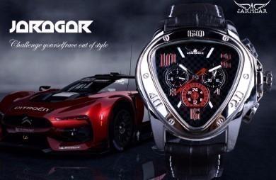 Jaragar ジャガー メンズ腕時計 高級 レザー 機...