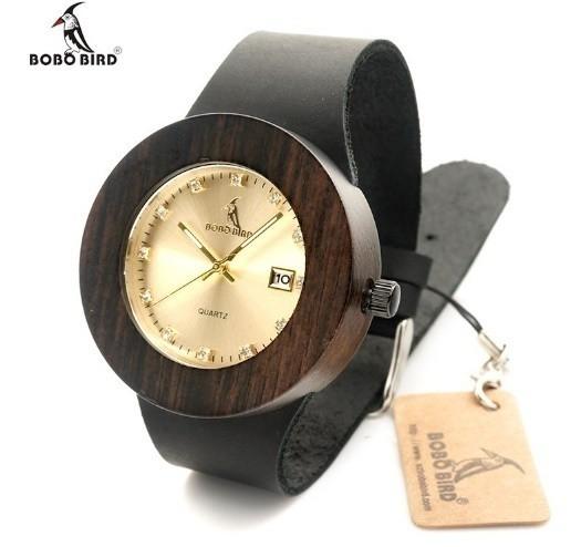 BOBO BIRD 2カラー 木製腕時計 クォーツ 自然に優...