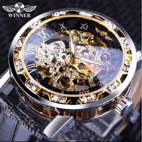 海外トップブランド WINNER メンズ高級腕時計 機...