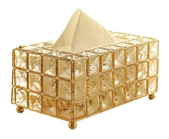 ティッシュボックス ティッシュケース ゴールド ...