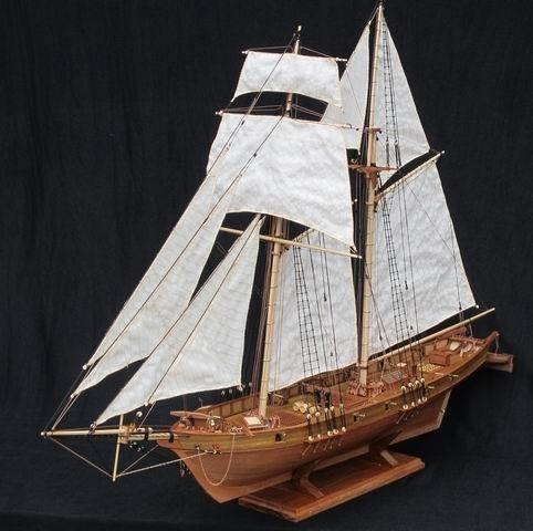 NIDALE 戦艦 ハーヴェイ 1847 1/96スケール 船 帆...