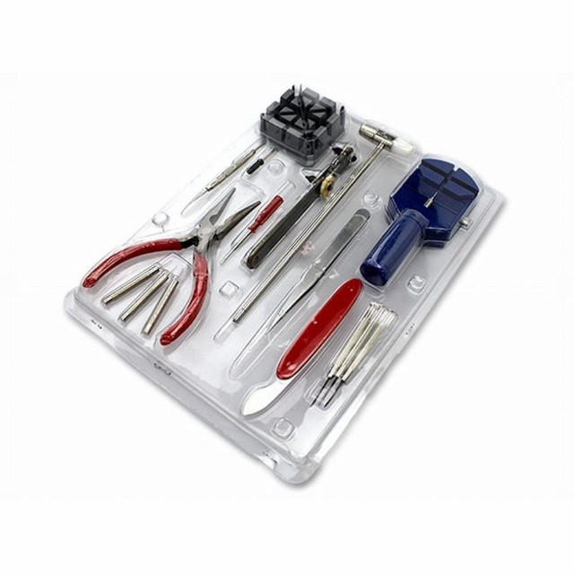 腕時計工具セット 16点 時計修理 メンテナンス 電...