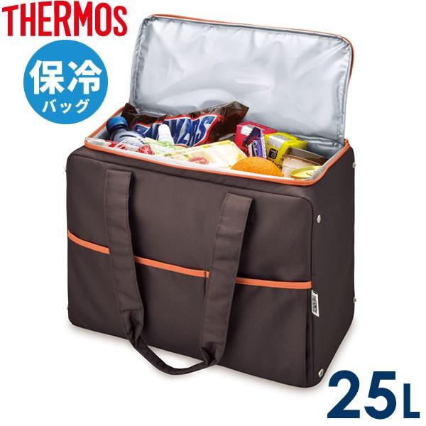 サーモス エコバッグ 保冷ショッピングバッグ 25L ブラウン(BW) RER-025