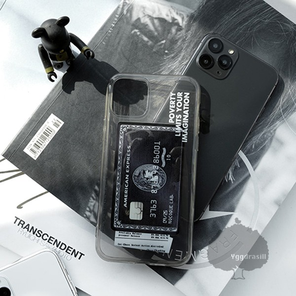 iPhone11 pro プロ ブラックカード風 iPhoneケー...