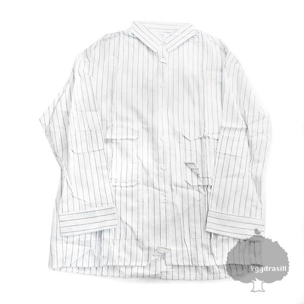 ビッグサイズ ストライプ 長袖シャツ ポケット L ...