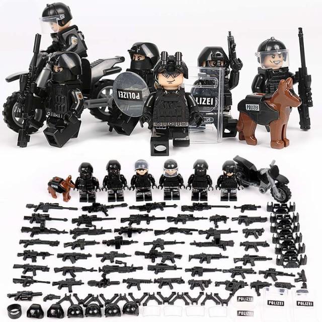 MOC レゴ ブロック 互換 SWAT 特殊部隊 アンチテ...