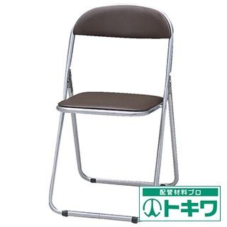 TRUSCO 折りたたみパイプ椅子 ウレタンレ...