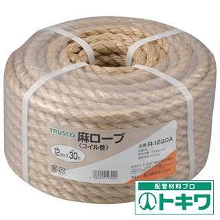 TRUSCO 麻ロープ 3つ打 線径12mmX...