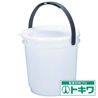 TRUSCO 丸型密閉バケツ 3L 蓋付き ナ...