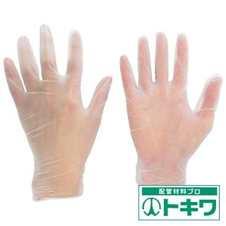ミドリ安全 塩化ビニール製 使い捨て手袋 粉な...
