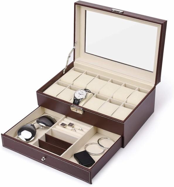 腕時計 ケース 12本 時計 収納ボックス 2段式 高...