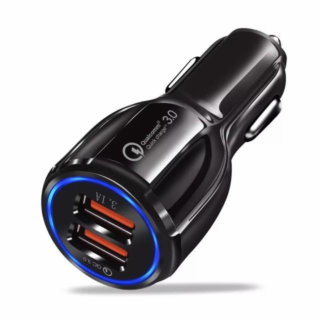 シガーソケット カーチャージャー 2口 USBポート ...