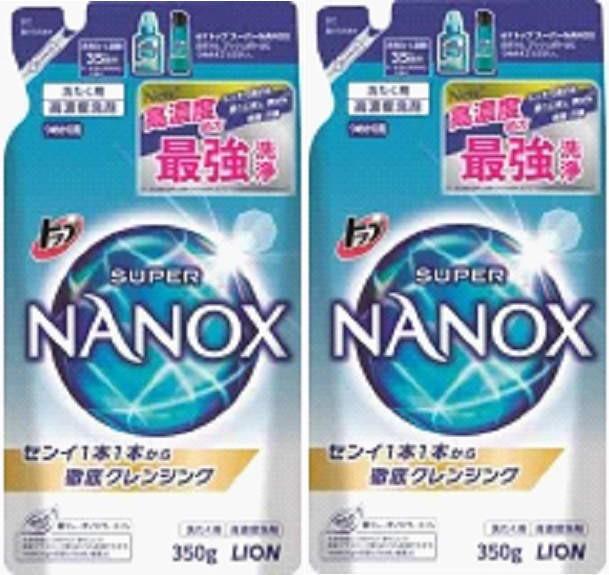 LION トップスーパーNANOX詰替用 350g x 2袋 /ラ...