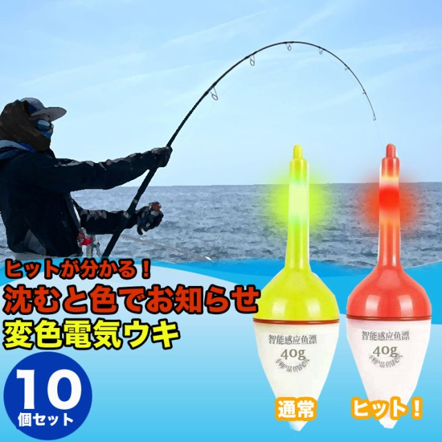 【27ZA】電気ウキ(10個セット)フィッシング ...
