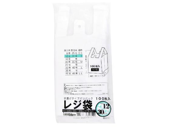 紺屋商事/規格レジ袋(乳白) 12号 100枚/00722112