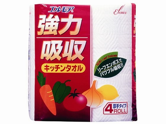 カミ商事/エルモア強力吸収キッチンタオル 4ロー...