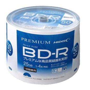 PREMIUM HIDISC BD-R 1回録画 4倍速 25GB 50枚 ス...