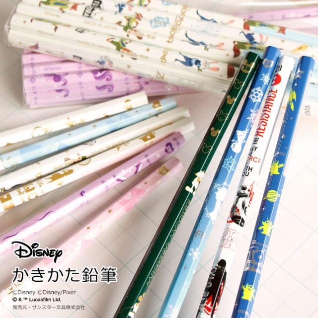 ディズニー かきかた鉛筆 <B・2B> 12本組 ...