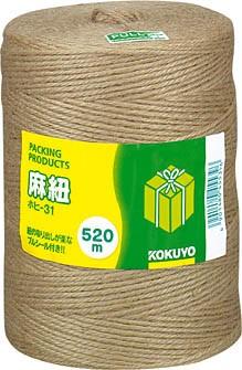 コクヨ 麻紐 チーズ巻き 520m ホヒ-31 ★★★