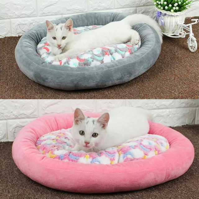 【送料無料】丸い犬のベッド ふわふわ犬のベッド ...