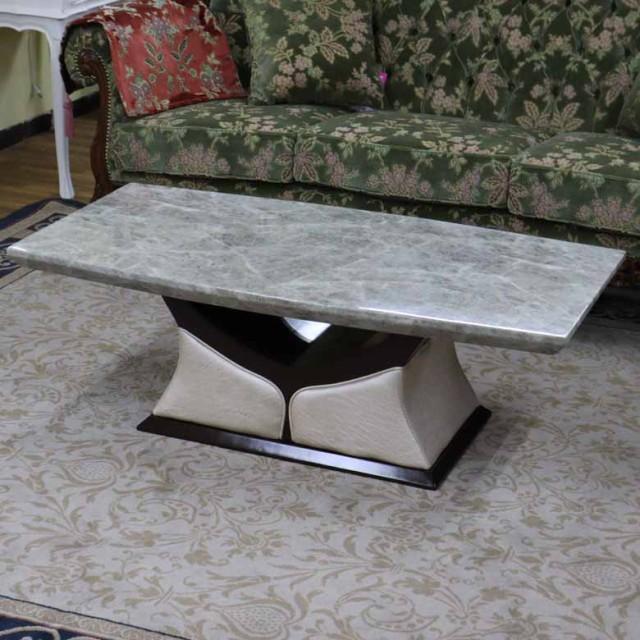 センターテーブル 120cm グレー 大理石 四角 長方...