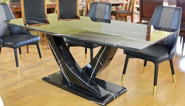 ダイニングテーブル 180cm 大理石 4人用 四角 長...