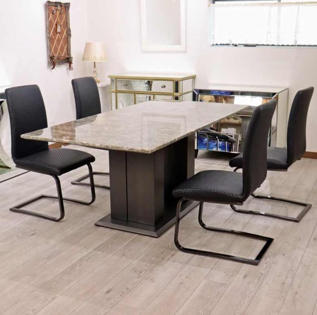 ダイニングテーブル 180cm 天然大理石 4人用 四角...