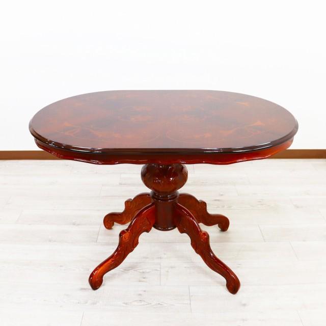 イタリア ダイニングテーブル 4人掛け 135cm 楕円...