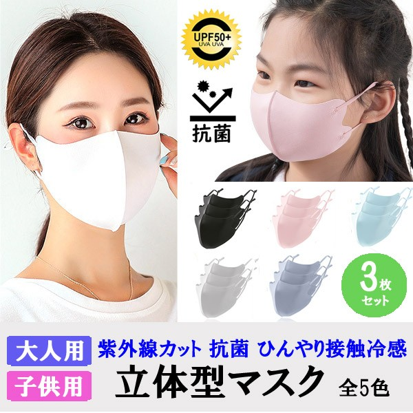 送料無料 1000円 お得セール 立体マスク 3枚セッ...