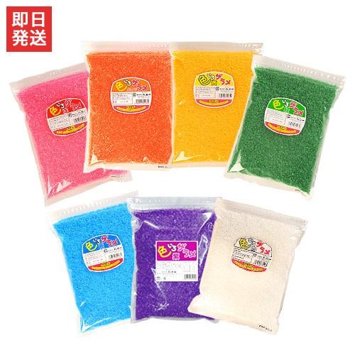 綿菓子用 色付きザラメ 色いろザラメ 1袋×1kg入 ...