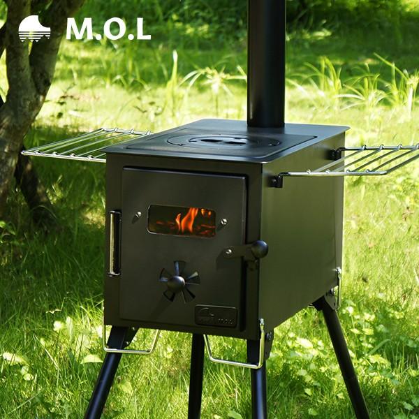 M.O.L 薪ストーブ 角型 MOL-W100 (グリル機能付き...