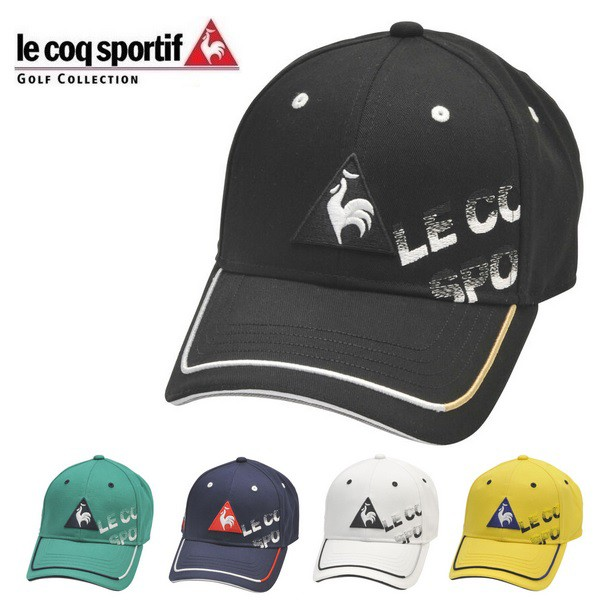 ルコック ゴルフ メンズ シャドーロゴコットンツイル キャップ QGBPJC00 Le coq sportif GOLF 帽子