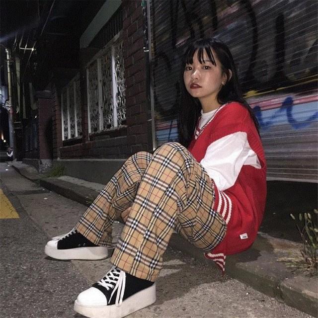 韓國 韓國ファッション パンツ ボトムス キャメル...