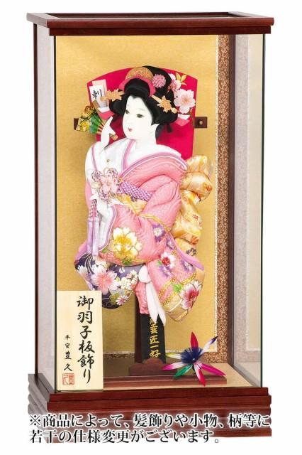 羽子板 平安豊久 ケース飾り 坂田宏子作 花の舞 1...