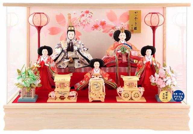 雛人形 コンパクト ひな人形 雛 ケース飾り 五人...