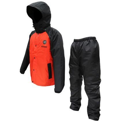 76 Lubricants 76防水防寒スーツ ブラック/レッド...