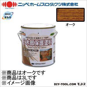 ニッペホーム 水性木部保護塗料 オーク 3L 06