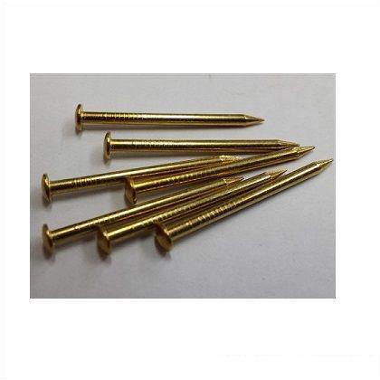 フジテック 丸頭釘 真鍮 1.2mm×16mm 80本