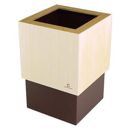 ヤマト工芸 ゴミ箱WCUBE ブラウン 約幅15.0×奥行...