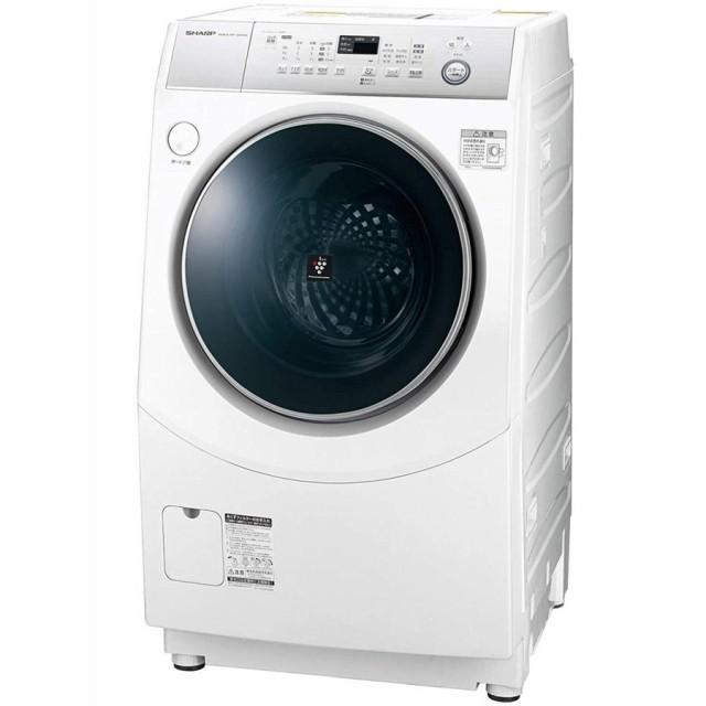 シャープ SHARP ドラム式洗濯乾燥機 ホワイト系 ...
