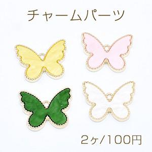 チャームパーツ 蝶々 アクリル貼り 1カン 20×25m...